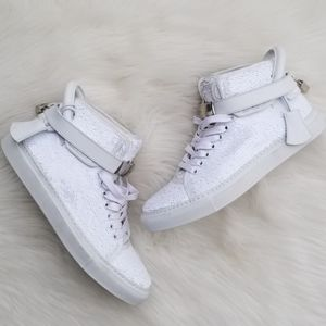 Buscemi   100mm Sequin High Top Sneakers